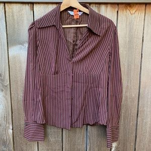Trina Turk | Maroon and Pink Blouse
